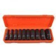 10 pc Set 1/2 Deep Impact Sockets Drive Long Reach 10-24mm