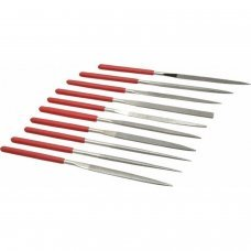 10pc Diamond Mini Needle File Set Metal Glass Stone 140x3mm