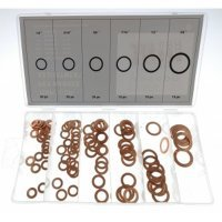 110PC Copper Washer Assortment Box 6MM 8MM 10MM 11MM 12MM 16MM