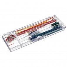 140pcs Solderless Breadboard U Shape Jumper Cable Wire Kit for Arduino + Box