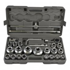 26 PIECES LARGE BIG HEAVY DUTY TRUCK SIZE SOCKET WRENCH TOOL SET FROM 21MM TO 65MM