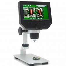 "3,6MP HD Digital Microscope with 4,3"" screen and height adjustable metal stand"