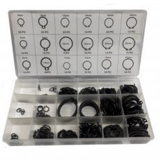300 Pieces  Circlip Snap Ring Assortment Set 18 Sizes Seeger