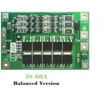 3S 60A Balanced Version Protection Board PCB for Lithium Battery