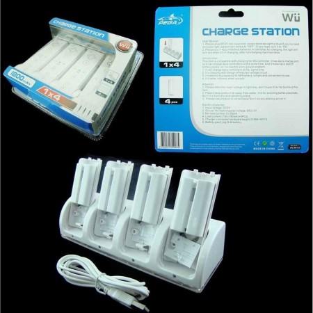 Base de carga 4 in 1 + 4 batería Wii Remote [carga 4 mandos a la vez] MANDOS Wii  9.00 euro - satkit