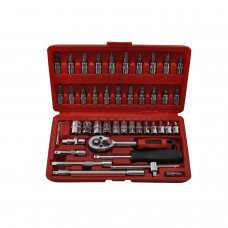 46 pcs 1/4'' Combination Spanner Socket Set and Ratchet Wrench