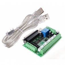 5 Axis CNC Breakout Board Adapter for Stepper Motor Driver Mach3+USB Cable