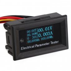 7-en-1 Medidor de energia, monitor voltaje e intensidad pantalla OLED DC 33V 3A