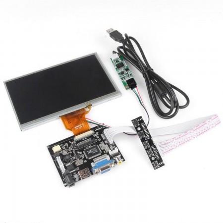 7 Inch TFT LCD Monitor For Raspberry Pi Touch Screen + Driver Board HDMI VGA 2AV RASPBERRY PI  43.00 euro - satkit