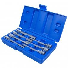 7pc 3/8'' DRIVE HEX ALLEN KEY EXTRA LONG 110MM INCH SOCKET BIT SET