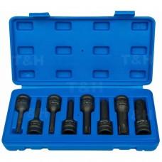8pcs 1/2 Drive Impact Torx Socket Set T30-T80