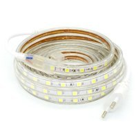 220V AC LED strip with SMD5050 LED with 60 LED/m ready to use (price x meter) Cold White 6500K