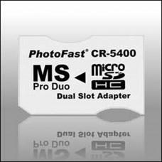 Adaptador 2xMicroSDHC a MS Pro Duo