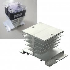 Aluminum Alloy Small Heat Sink Dissipation Cooling Fin For Solid State Relay SSR