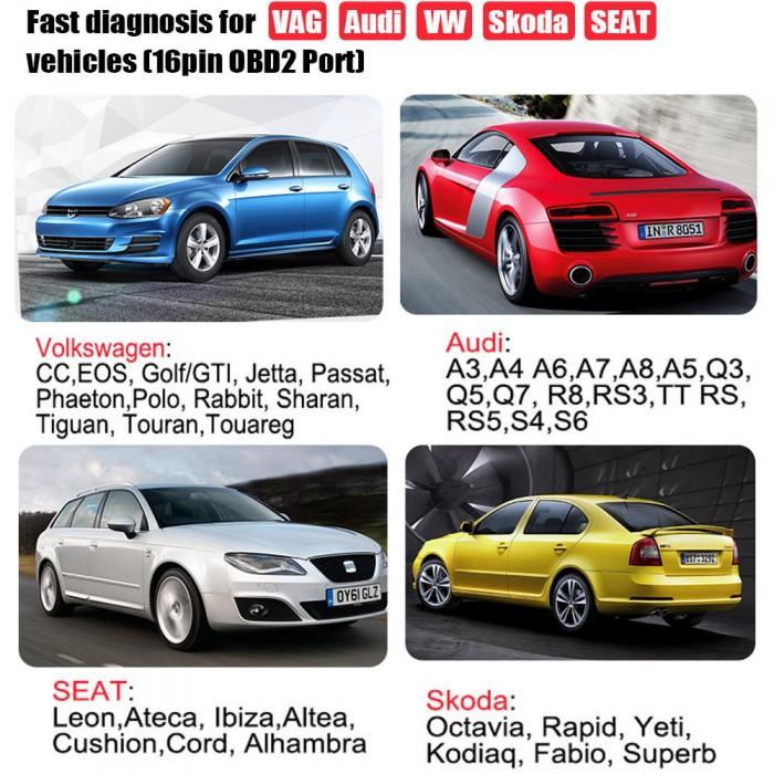 CAR DIAGNOSTIC CABLE : Ancel VD500 ABS SRS EPB Oil Diagnostic