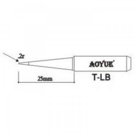 AOYUE TLB Replacement soldering iron tips Soldering iron tips Aoyue 1.00 euro - satkit
