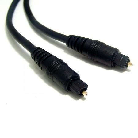 Cable Audio de fibra óptica   digital Toslink  2metros   Negro Macho/Macho Equipos electrónicos  2.00 euro - satkit