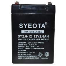 Lead  Battery 12V / 2.6Ah SY2.6-12,