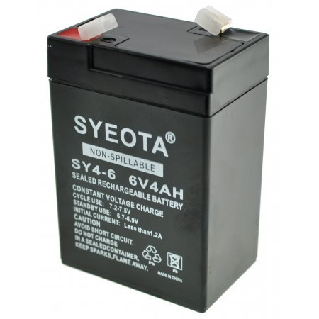 Rechargeable Lead Battery SY4-6 6V4Ah Alarms, Scales, Toys