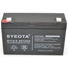Lead  Battery 6V / 12Ah SY12-6 SY12-6 NP12-6 FG11202 MP12-6 LCR0612P