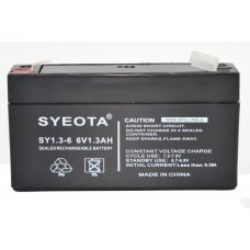 Lead  Battery 6V / 1.3AH  SY6V1.3 -SY6V1.3 NP1.2-6 LC-R061R3 Fire & Burglar Alarm Security