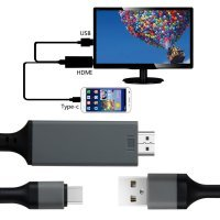 Type-C to HDMI Adapter USB Converter HDTV Cable