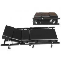 Mechanical Folding Stretcher Padded Cushions with Wheels Repair Workshop Garage Tool