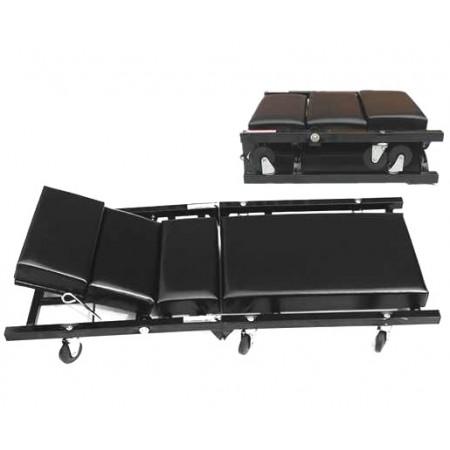 Mechanical Folding Stretcher Padded Cushions with Wheels Repair Workshop Garage Tool