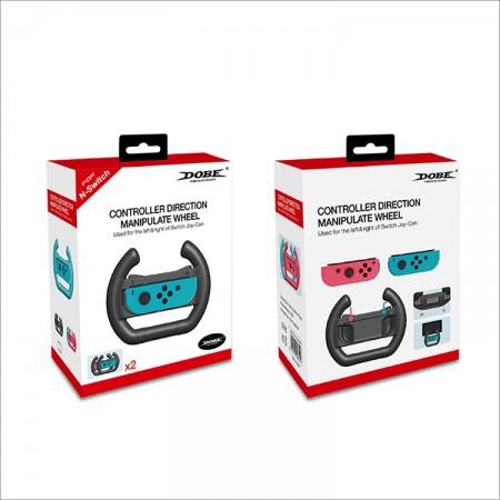 Controller Direction Manipulate Wheel for Nintendo Switch Joy-Con Handle Steering Wheel Dobe Twin Pack