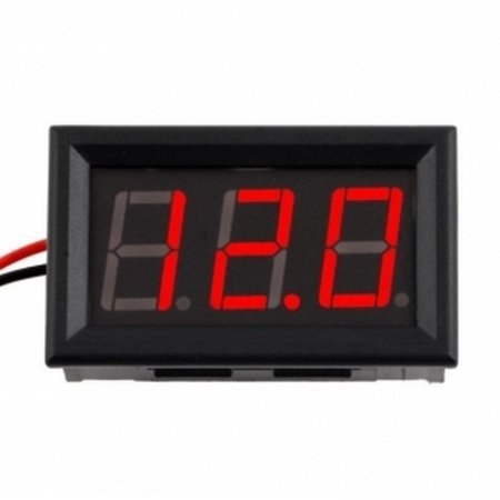 Voltímetro digital rojo 3,5V - 30V indicador tension bateria LED empotrable Voltímetros  2.70 euro - satkit