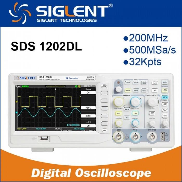 Digital Oscilloscope SIGLENT SDS1202DL 200mhz 7