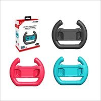 Controller Direction Manipulate Wheel for Nintendo Switch Joy-Con Handle Steering Wheel Dobe Twin Pack Pink Turquoise