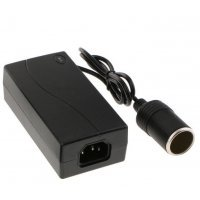 220V to 12V 5A 60W Interior Inverter Converter Electric Power Adapter with Car Lighter Outlet