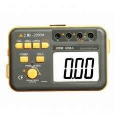 Medidor de resistencia contra tierra VICTOR 4105A con piquetas y cables