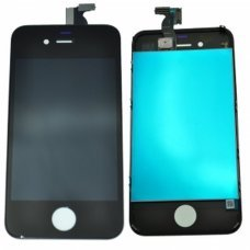 iphone 4 Lcd screen with touch digitizer and glass ready to install BLACK