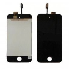 Itouch 4 Lcd screen with touch digitizer and glass ready to install BLACK