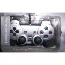 COMPATIBLE PS2 DUAL SHOCK PAD [ SILVER ]
