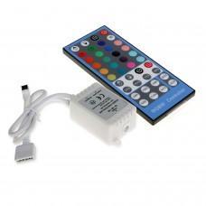 Controlador Tira LED RGBW 12V-24V, Dimmer por Control Remoto IR 40 Botones