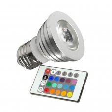 Led RGB bulb E27 3W with remote controller