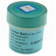 Bote bolas estaño SIN PLOMO 0,55mm 250.000 ud
