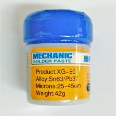 Estaño en pasta para soldar Mechanic XG-50 Sn63/Pb37 (10CC - 42GR)