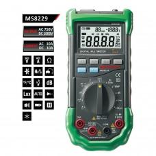 Mastech MS8229 - Equipo 5 en 1 Multimetro , Sonometro, humedad, luxometro, termometro.