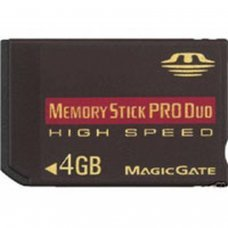 MEMORY STICK PRO DUO 4GB  (COMPATIBLE WITH PSP)