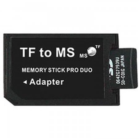 MicroSD MicroSD/MicroSDHC  to MS PRO DUO adapter MEMORY STICK AND HD PSP 3000  1.00 euro - satkit