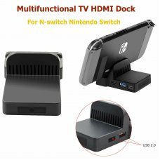 Portable Mini TV HDMI USB Video Base Dock Stand for Nintendo Switch Game Console