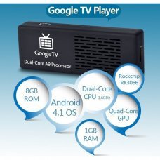Mini PC MK808 Dual-Core Android 4.1.1 Google TV Player w / 1GB RAM / ROM 8GB / Wi-Fi / TF / HDMI