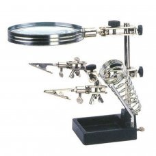 Mini Robot Soldering Stand With Magnifier + soldering iron stand + soldering iron stand