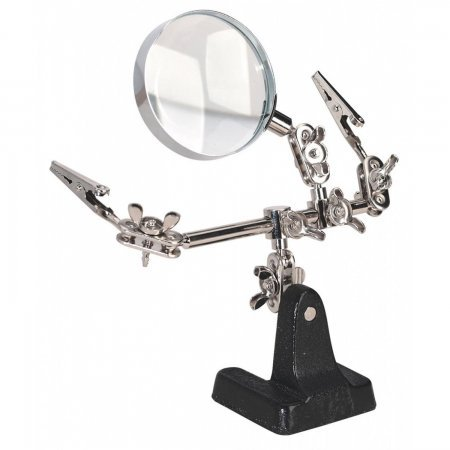 Mini Robot Soldering Stand With Magnifier Magnifiers  6.00 euro - satkit