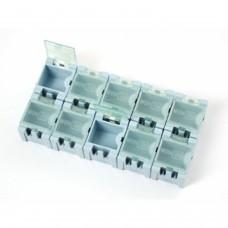 10 cajitas componentes SMD modular con tapa