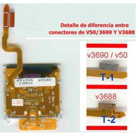 LCD Motorola V3688 o V3690/V50con cable flex LCD MOTOROLA  5.64 euro - satkit